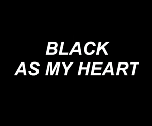 black, heart, and quotes image