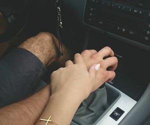 couple, holding hands, and Nice day image