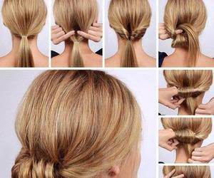 hairstyle, hairstyle tutorial, and tutorial image