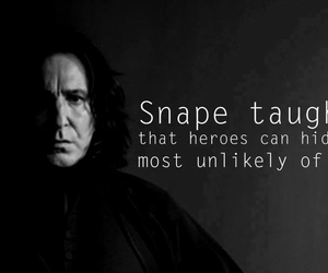harry potter, snape, and severus snape image