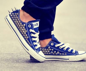 shoes, converse, and blue image