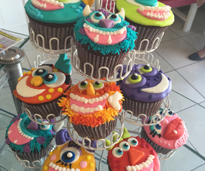 cupcake, disney, and monsters image