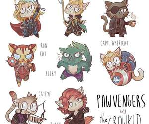 Avengers, Marvel, and cat image
