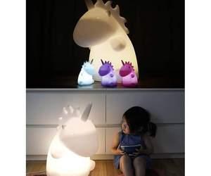 unicorn, light, and baby image