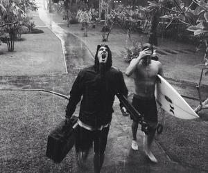 boys, beach, and surf image