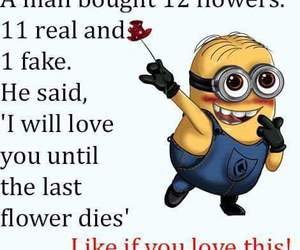 fake, flowers, and minions image