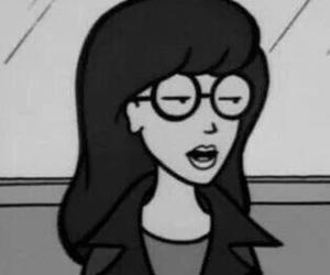 Daria, happy, and black and white image