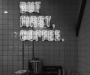 coffee, black and white, and hipster image