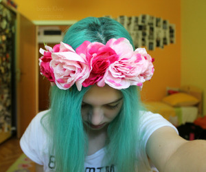 flower, hair, and tumblr quality image