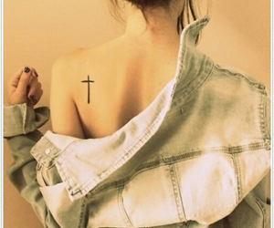 back, tiny tattoo, and cool image