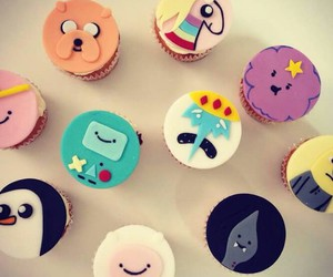 pastry, adventure time, and macarons image