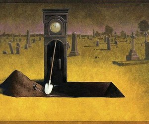 time, death, and clock image
