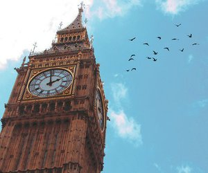 london, Big Ben, and sky image