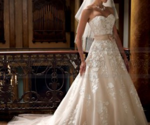 wedding dress, dress, and wedding image