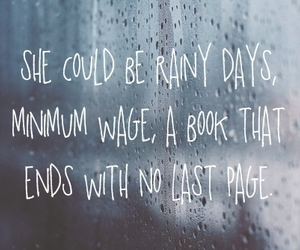 quote, rain, and book image
