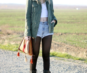 blond, boots, and jeans shorts image
