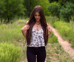 brunette, hair extensions, and hollister image