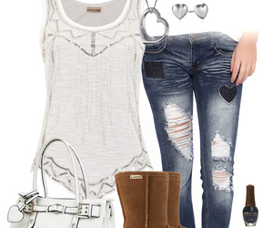 fashion, outfit, and tank top image