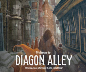 welcome, harry potter, and diagon alley image