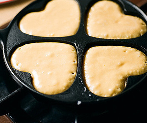 food, heart, and pancakes image