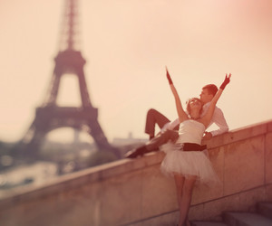 couple, france, and eifel tower image