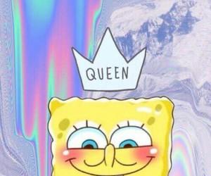 Queen, spongebob, and wallpaper image