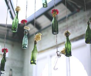 flowers, vintage, and bottle image