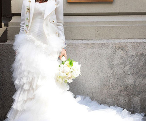bridal, cathedral, and wedding gown image