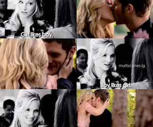 caroline forbes and klaus mikaelson image