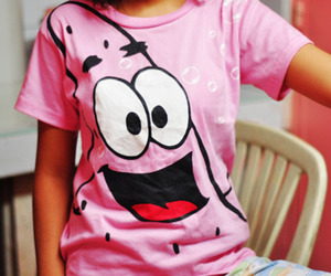 pink, patrick, and shirt image
