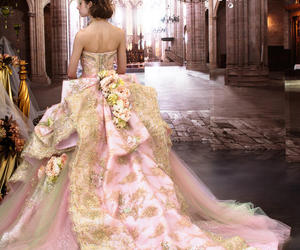 dress, gowns, and princess image