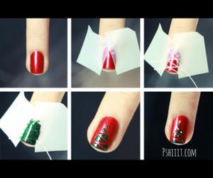 christmas, nails, and tree image