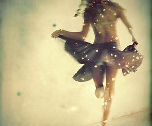 girl, dance, and light image