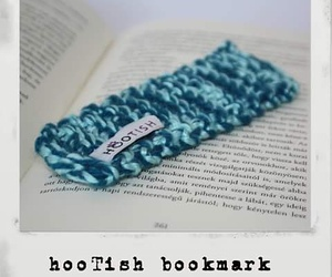 crochet, book, and bookmark image