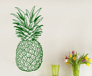 kitchen decor, pineapple, and wall decals image
