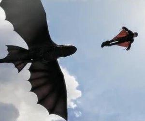 dragon, fly, and toothless image