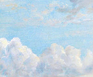 blue, sky, and painting image