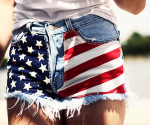 america, fashion, and shorts image