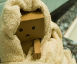 danbo, box, and towel image