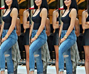 denim, style, and kylie jenner image