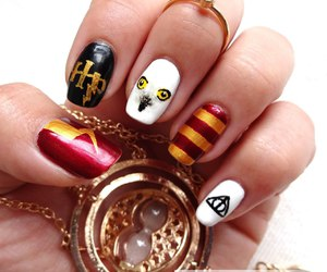 harry potter, nails, and hp image