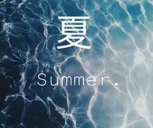 japanese, summer, and sea image