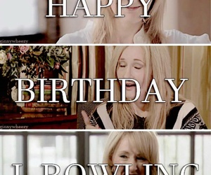 birthday, harry potter, and jk rowling image