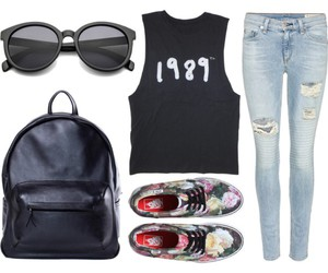 1989, backpack, and clothes image