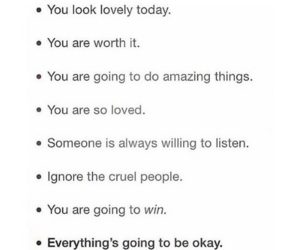 positive thinking, self esteem, and affirmations image