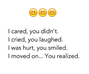 quote, care, and hurt image