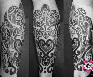 leg, Maori, and tattoo image
