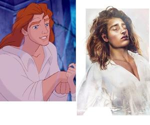 disney, prince, and beast image