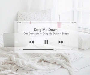 drag me down, one direction, and music image