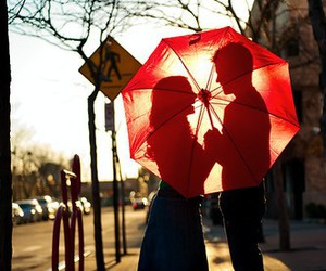 love, couple, and umbrella image